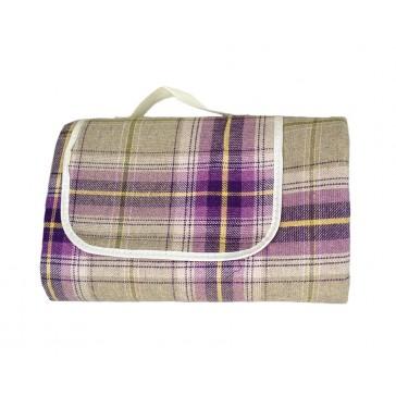 Deluxe Tartan Fleece Picnic Rug / Blanket - 1500mm x 1800mm