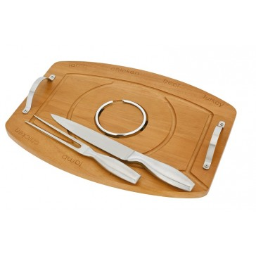 Wooden Meat Carving Board Tray