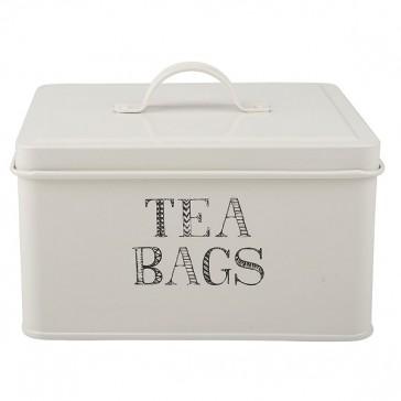 White Tea Bags Storage Tin by Creative Tops