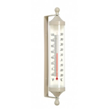 Small Fair Isle Wall Mounted Tube Thermometer in Clay
