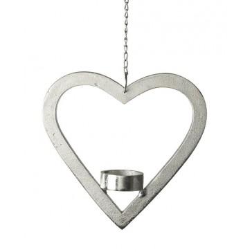 Aluminium Hanging Heart Tealight Holder