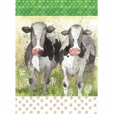 Alex Clark Curious Cows Tea Towel