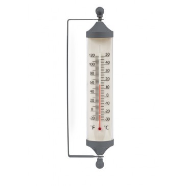 Charcoal Wall Mounted Tube Thermometer