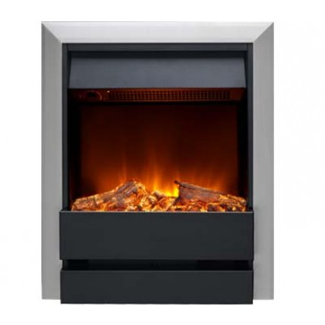 Burley Wardley Electric Fire with Nickel Trim