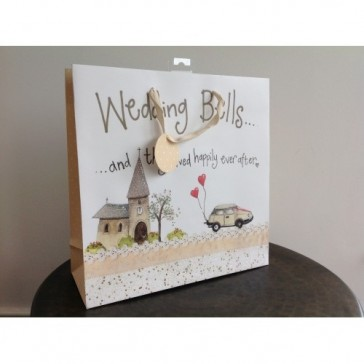 Wedding Bells Large Gift Bag by Alex Clark.