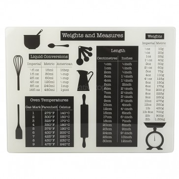 Weights & Measures Float Glass Work Surface Protector by Creative Tops.