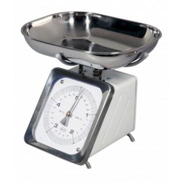 White Retro Metric Kitchen Scale - Up to 5kg