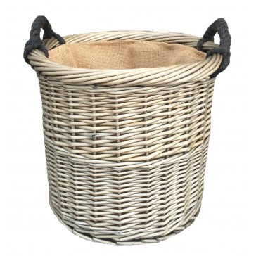 Medium Antique Wash Round Basket