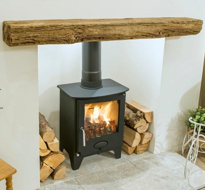 Newman Fireplace Bideford Oak Effect Stone Beam Newman