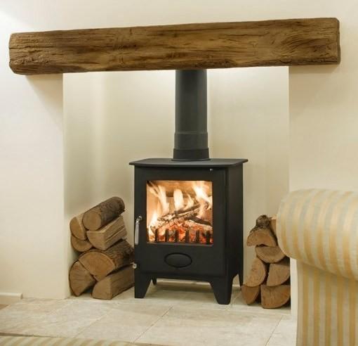 Newman Fireplace Clovelly Oak Effect Stone Beam Newman