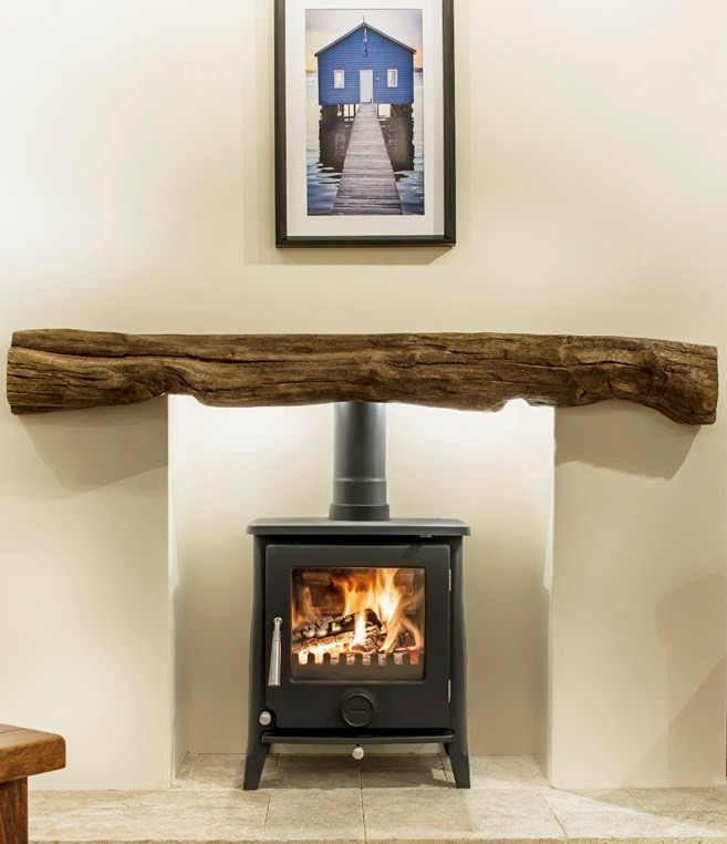 Newman Fireplace Fowey Oak Effect Stone Beam Newman
