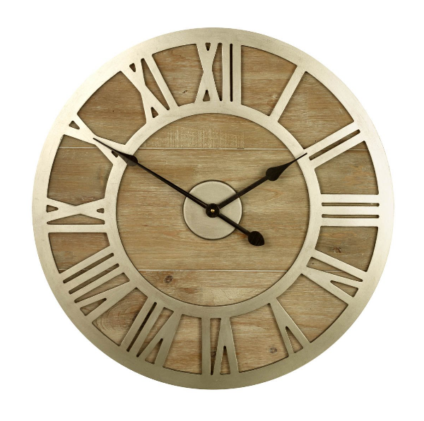 Albus Wood U0026 Metal Clock