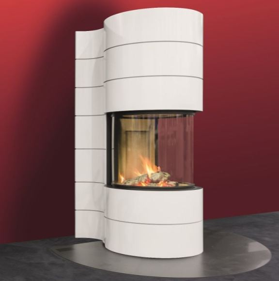 Spartherm Magic Fireplace Round Insert Spartherm