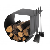 Dixneuf Caracol Log Holder with Firetools