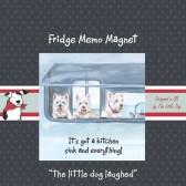 The Little Dog Caravanning Fridge Magnet