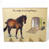 The Little Dog Horse Box Wooden Peg Plaque