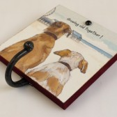 The Little Dog Growing Old Metal Hook Plaque