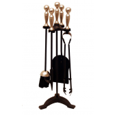 Black & Antique Companion Set - Ball Top