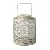 Parlane Large Geometric Lantern in Cream