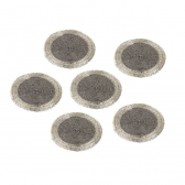 Parlane Silver Glimmer Coasters - Acrylic Beads
