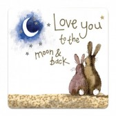 Love You to the Moon & Back Coaster - Alex Clark