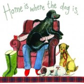 Alex Clark Home Is Where The dog Is Large Sparkle Card