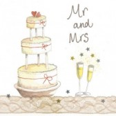 Alex Clark Mr and Mrs Large Sparkle Card