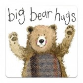 Big Bear Hugs Coaster - Alex Clark