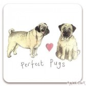 Perfect Pugs Coaster - Alex Clark