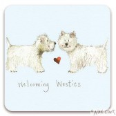 Welcoming Westies Coaster - Alex Clark