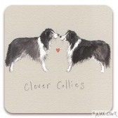 Alex Clark - Clever Collies Coaster