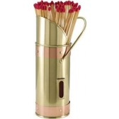 Match Holder with Matches - Brass & Copper