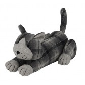 Tartan Fabric Cat Door Stop