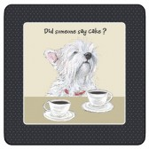 The Little Dog Coffee & Cake Coaster