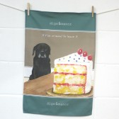 The Little Dog Criminal Tea Towel