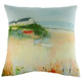 Sue Fenlon Harbour Boats Cushion