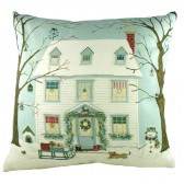 Sally Swanell Christmas House Cushion
