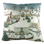 Sally Swanell Snowy Village Cushion