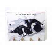 The Little Dog Duvet Day Wooden Peg Plaque