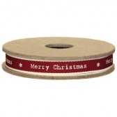 East of India - Merry Christmas Fabric Ribbon