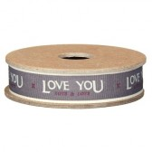 East of India - Love You Lots Fabric Ribbon