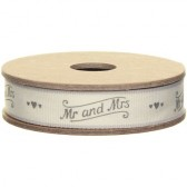 East of India - Mr and Mrs Fabric Ribbon