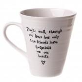 Porcelain Mug - Footprints on our Hearts