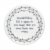 Grandchildren Fill A Space Round Coaster