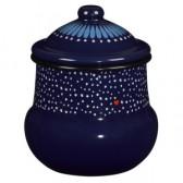 Folklore Enamel Sugar Pot with lid
