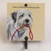 The Little Dog Fresh Air Metal Hook Plaque