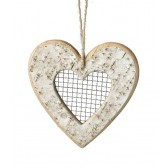 Small Natural Birch Hanging Heart Decoration