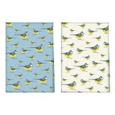 Into The Wild Blue Tit Pack Of 2 Tea Towels