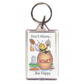 Don't Worry Bee Happy Keyring