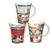 Alex Clark Kitchen Scenes Mugs - Set of 6